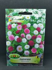 Bellis perennis flower mix pink white fuchsia garden 600seeds English daisy