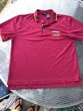MINNESOTA GOLDEN GOPHERS Men's 2XL Maroon Active Polo Shirt Golf