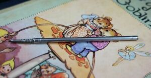 Antique silver plated slim long propelling pencil c1900's
