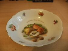 OLD VINTAGE LARGE PORCELAIN FRUIT BOWL CONTINENTAL PRESENT FROM SOUTHSEA