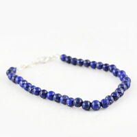 Amazing 68.00 Cts Earth Mined Untreated Blue Lapis Lazuli Round Beads Bracelet