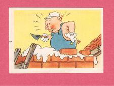 The Three Little Pigs & Big Bad Wolf Vintage 1950s Walt Disney Card Belgium F