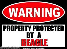 Beagle Beware of Dog Property Warning Sticker Sign Home Yard Decal 6 inch WS245