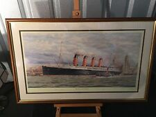 "Superb Framed Limited Edition ""Lusitania at Liverpool"" - Signed / 147 / 500"