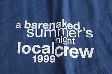 Barenaked Ladies / TOUR T-SHIRT /   - CREW size L - Blue - Summer 1999