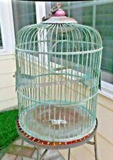 Antique Brass Bird Cage 20 x 12 rare find