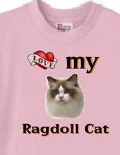 Ragdoll Cat T Shirt - Love My Ragdoll Cat - Dog & Cat T Shirt Available
