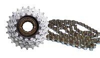 Sunrace 5 Speed Freewheel Block and Chain Combo Kit - Ratio 14-24