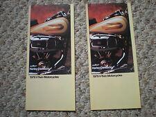 NOS AMF ORIGINAL VINTAGE HARLEY  1979 V-TWIN FXS FXE FLH BROCHURE CATALOGS (2)