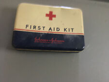 Vintage Johnson & Johnson First Aid Kit No. 16 Tin Includes Most Items Inside