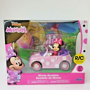 Disney Junior Minnie Mouse Roadster RC Car with Polka Dots And Remote NIB