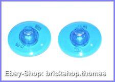 Lego 2 x Radar Satschüssel - 4740 Dish 2x2 Inverted Trans-Dark Blue - NEU / NEW