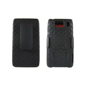 Motorola DROID RAZR HD XT926 Rubberized Shell Case Skin w/ Holster Combo Stand