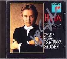 Esa-Pekka SALONEN Signiert HAYDN Symphony No.22 Philosopher 82 Bear 77 CD SONY