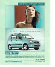 PUBLICITE ADVERTISING   2000   SUZUKI     le nouveau WAGON R+
