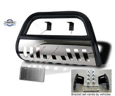 Bull Bar 2001-2006 Chevy Avalanche Chrome Push bumper in black stainless steel