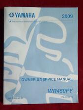 Yamaha 2009 WR450FY WR 450 FY Original Owner's Service Manual Y545