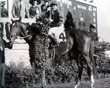 Whirlaway  (E. Arcaro - up) - 1941 Triple Crown Winner,  8x10 B&W Photo