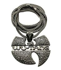 "NEW ICED OUT WU TANG HIP HOP PENDANT & 4mm/36"" FRANCO CHAIN NECKLACE - MP868"