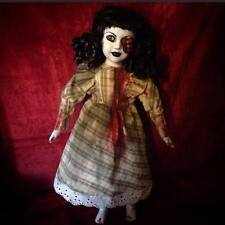 Half Face Vampire in Plaid Creepy Horror Doll by Bastet2329 Christie Creepydolls