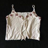 Newport News Crop Tank Top Sweater Knit Woman's Medium
