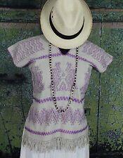 Mixtec Huipil Hand Woven Back Strap Loom Oaxaca Mexico Santa Fe Hippie Fiesta