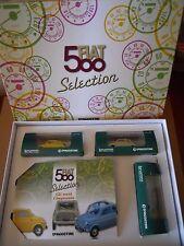 ELEGANTE BOX DI N°3 FIAT 500 1957 BRUMM + BOOK scala 1:43 [MV34 ] RARO!!