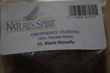 NATURES SPIRIT FLY TYING DUBBING EMERGENCE DUBBING PACK BLACK STONE FLY
