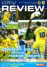 Chester City v Notts County programme, Division 2, September 2006