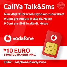10€ Vodafone Talk&SMS Sim Karte CallYa 9 Cent Prepaid Handy Card D2