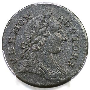 1787 RR-13 PCGS AU Details Brittania Vermont Colonial Copper Coin