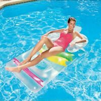 Inflatable Designer Swimming Pool Lounger Sun Chair Bed Lilo Adult Float 43011