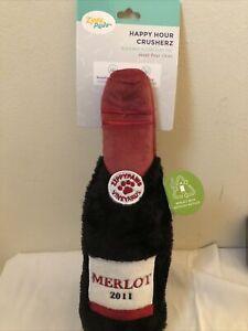 Zippy Paws Dog Toy Happy Hour Red Wine Merlot Crusherz
