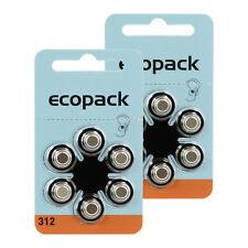 12x Original Varta Eco Pack ZA 312 Knopfzelle Hörgeräte Batterie - 12 Stk Set