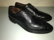allen edmonds mens size 10.5D black wingtip leather/leather soles (mac neil)