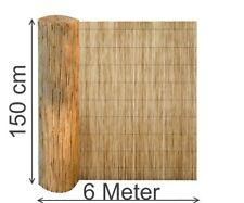 Schilfmatte 150 x 600 cm Sichtschutz Zaun Schilfrohrmatte Windschutz Blickschutz
