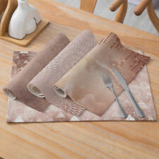 New Pink Gold Geometric Print Placemat Dining Coffee Table Mat Home Kitchen