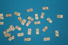 DOLLS HOUSE    Handcrafted Set Of Cream  Dominoes