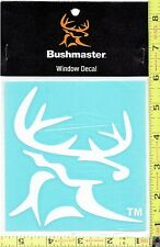New Bushmaster Deer Head Hunter Decal Sticker for Car & Truck Window - 17127