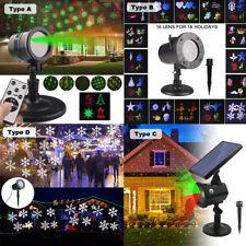 LED Moving Laser Projector Light 16 Patterns Star Outdoor Garden Christmas Decor