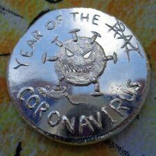 1 oz. YEAR OF THE RAT VIRUS Apocalypse Mint ingot .999 fine silver