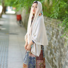 Women Vintage Indian Style Flower Cotton Linen Scarf Ladies Shawls Scarves Wrap