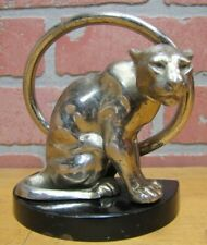 B&H Tiger Leopard Jaguar Big Cat Bookend Decorative Art Statue Bradley Hubbard