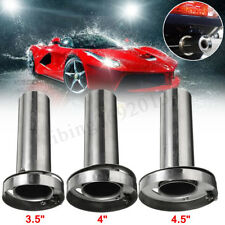 "3.5/4/4.5"" Insert Removable Stainless Steel Exhaust Tip Silencer Muffler Killer"
