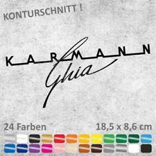 Karmann Ghia Schriftzug Logo Autoaufkleber JDM Sticker Aufkleber 18,5 x 8,6 cm