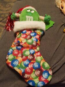 M&M seductive  Ms. Green Christmas Stocking