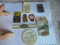 Lot Anciennes Etiquettes d'anciens Flacon de Parfum ou Eau de Cologne Dentifrice