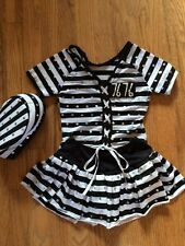 Convict Cutie Prisoner Jailbird Inmate Halloween Dance Costume Child Sze Medium