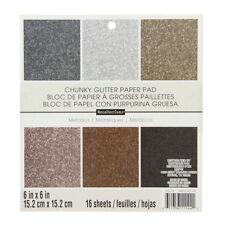 "American Crafts 6"" x 6"" Glitter Metallics Paper Pad Stack - Premium Printed Card"