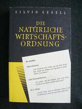 Silvio Gesell Buch Die natürliche Wirtschaftsordnung  - Die original Vollaugabe